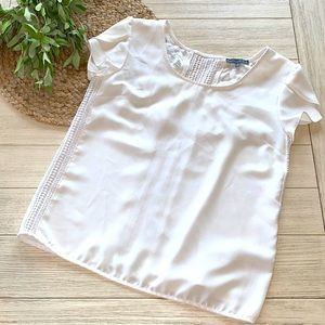 Brixton Ivy white short sleeve blouse size small